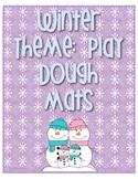 Winter Play dough 10 frame Mats  1-20