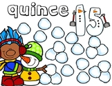 Bilingual Winter Play-Dough Counting Mats