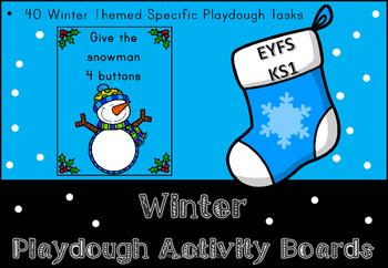 Winter Play Dough Activity Boards
