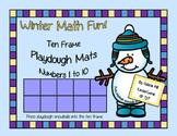 Winter Playdough Math Mats - PreK & Kindergarten