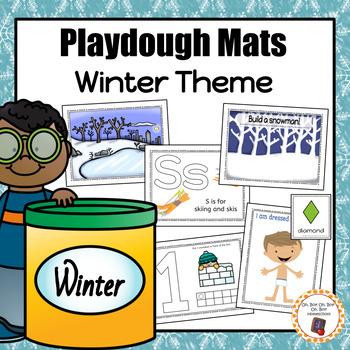 Winter Playdough Mats