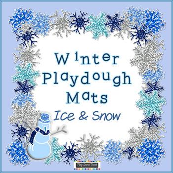 Winter Playdough Mats - Ice and Snow