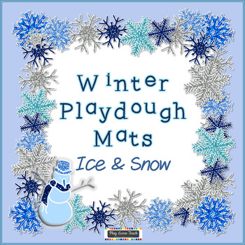Winter Playdough Mats - Ice and Snow