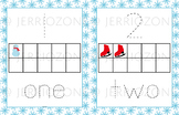 Winter Playdough Tracing Mats (Numbers 1 to 10)