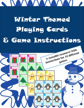 Winter Game Cards for Math - Multiple Uses! Bonus Game Instructions Included