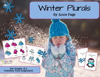 Winter Plural Nouns for Kindergarten to 2nd  Speech & Language
