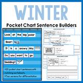 Winter Pocket Chart Sentence Building Center