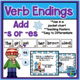 Winter Pocket Chart - s/es endings