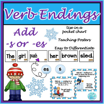 Winter Pocket Chart - s/es endings