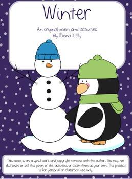 """Winter"" Poem & Activity Bundle"
