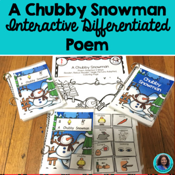 Winter Poem Chubby Snowman Interactive Poem