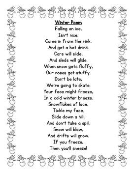 Winter Poem Poetry Center Pack