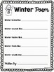 Winter Poem and Snowflake Craftivity Bulletin Board