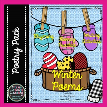 Winter Poems--Mitten Magic Reading, Rhyming, and Writing Pack