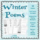 POETRY: WINTER POEMS, Poetry Analysis, Poetry Writing - Digital