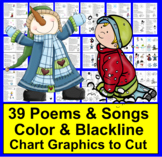 Winter Activities:  Poems, Songs, Finger Plays and Chants in Color & BW
