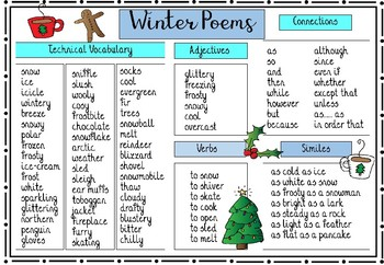 Winter Poems Word Bank