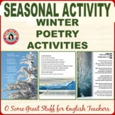 WINTER POETRY Five Classic Poems with Activities and Beautiful Graphics and Key