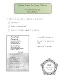 Winter Poems for Young Children, Montessori Language, Poetry