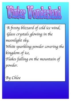 Winter Poems using the five senses