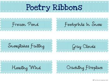 Winter Poetry: 66 Poetry Prompt Ribbons