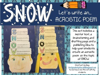 Winter Poetry: An Acrostic Poem Writing Activity