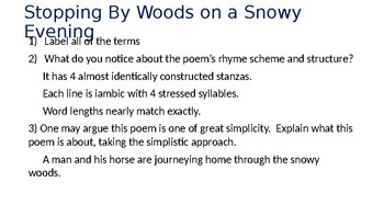 Winter Poetry Answers to the questions in packet