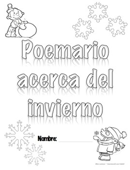 Winter Poetry Book cover in SPANISH