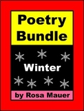 Winter Poetry Bundle Distance Learning School or At Home Poems & Activities