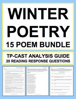 Winter Poetry Bundle: Winter ELA Activities