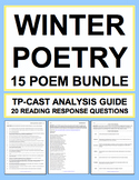 Winter Poetry Bundle: Winter ELA Activities