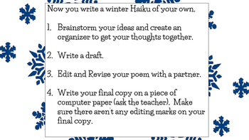 Winter Poetry FREEBIE: Haikus
