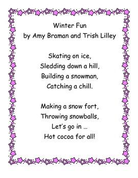 Winter Poetry Packet