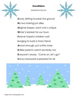 Winter Poetry Reading Comprehension Activity