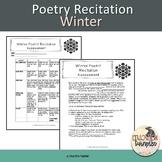 Winter Poetry Recitation Assignment