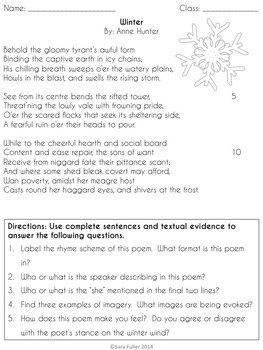 Winter Poetry: Shakespeare, Shelley, Hunter, and Burns
