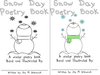 Winter Poetry Study and Snowman Craft