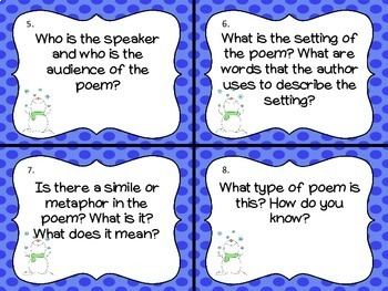 Winter Poetry Task Card Pack