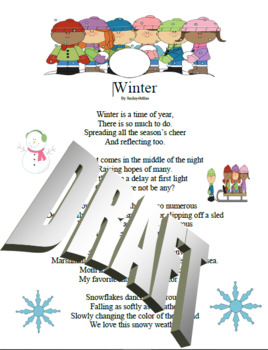 Winter - Poetry Terms and Figurative Language Assessment