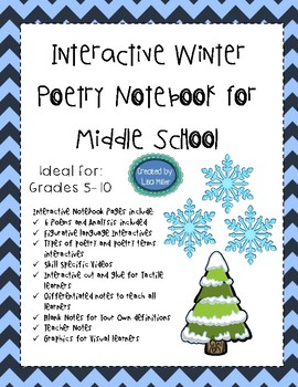 Winter Poetry with Interactive and Guided Notes