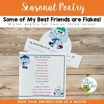 January Centers Poetry for Winter Fluency Practice ~Winter