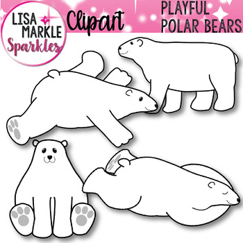Winter Polar Bear Clip Art