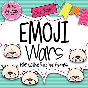 Polar Bears Emoji Wars Syncopation {Interactive Rhythm Game}
