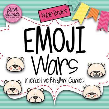 Winter Polar Bears Emoji Wars Taah Half Note {Interactive