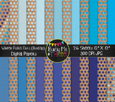 Winter Polka Dots on Burlap Digital Papers {Commercial Use Digital Graphics}