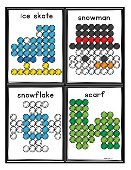 Winter Pom-Pom Task Cards and Mats