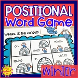 Winter Positional Word Game | Special Education and Autism Resource