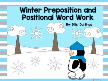 Winter Positional Word and Preposition QR Codes