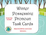 Winter Possessive Pronoun Task Cards