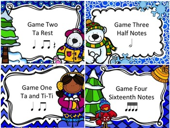 Winter Post Office - 4 Games for Rhythm Practice